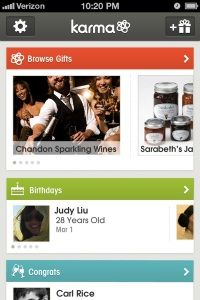 Karma app (iOS and Android) integrates with your Facebook feed and recommends gifts for friends