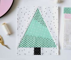 Foundation paper piecing patterns - Santa Gnome and Christmas Tree Paper Pieced Quilt Blocks – Foundation paper piecing patterns Christmas Tree Quilt Block, Fabric Christmas Trees, Christmas Quilt Patterns, Christmas Tree Pattern, Christmas Patchwork, Christmas Quilting, Tree Quilt Pattern, Paper Pieced Quilt Patterns, Pattern Paper