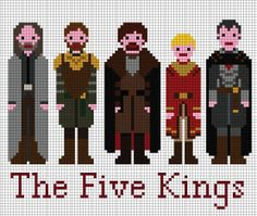 Game of Thrones Pattern - The Five Kings (PDF) by XStitchMyHeart