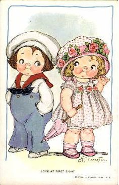 Las Recortables de Veva e Isabel: Dolly Dingle´s and The Stories of Mrs.Mousie and Bumpty Vintage Greeting Cards, Vintage Postcards, Vintage Pictures, Vintage Images, Decoupage, Kewpie, Vintage Paper Dolls, Baby Art, Vintage Valentines