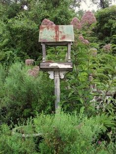 My sweet  hubby made me a feeder almost like this.:)))
