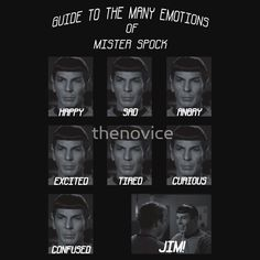 A Guide to Mister Spock's Emotions