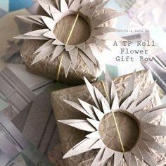 Tutorial de vídeo: TP-roll de la flor del arco de regalo