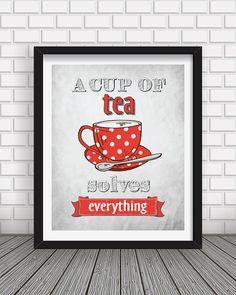 Kitchen decor Kitchen wall art Kitchen prints Tea by BlackPelican