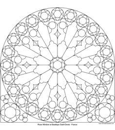 """Many different Rose Window """"templates! Notre Dame, St. Denis, etc... Will use as template for color wheel project!"""
