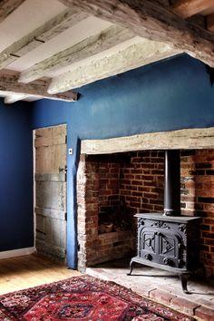 Woad walls by Little Greene Paint Company