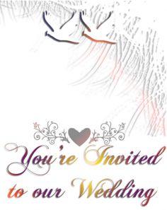 Color Doves Wedding Invitation