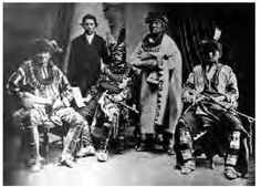 This Sauk and Fox delegation group went to Washington, D.C., in 1868 to complain about their agent, Albert Wiley. Wiley had the men arrested on their eastern journey on the grounds that they were an unofficial delegation.