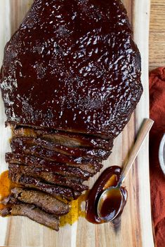 The Easiest Baked Brisket Recipe - Stuck On Sweet Easy Brisket Recipe, Beef Brisket Recipes, Rib Recipes, Cooking Recipes, Game Recipes, Bbq Brisket, Smoked Brisket, Smoked Ribs, Barbecue