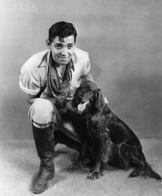 Clark Gable and dog
