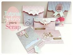 """Adding Envelope Pages to A Mini Album is so easy and fun to do! The envelope pages add an interactive element to the mini album that is """"so stinkin COOL"""" and. Scrapbook Bebe, How To Make Scrapbook, Mini Scrapbook Albums, Scrapbook Paper, Mini Album Scrap, Baby Mini Album, Diy Crafts For Girls, Diy And Crafts, Paper Crafts"""