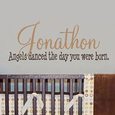 ANGELS DANCED Nursery Wall Decal - so sweet above a crib.
