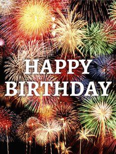It's a Big Celebration! Birthday Fireworks Card
