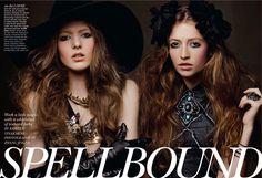"Flare November 2011. ""Spellbound"". Beauty Direction: Kristen Vinakmens; Hair & Makeup: Tony Masciangelo"