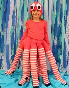 Krake-Kostüm zum Selbermachen-lustige Faschingskostüme für Kinder #ChildrenCostumes