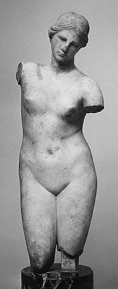 Marble statuette of Aphrodite Anadyomene (rising) type, late century B. The Metropolitan Museum of Art, New York. Gift of John W. Ancient Greek Art, Ancient Greece, Ancient History, Art History, Roman Sculpture, Art Sculpture, Stone Sculpture, Statues, Art Et Architecture
