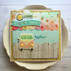 Shellye McDaniel | hello there summer | SIMPLE STORIES & TOP DOG DIES PRODUCT SWAP - DAY 4