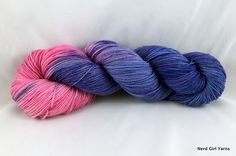 Truly Outrageous is available dyed to order from Nerd Girl Yarns.