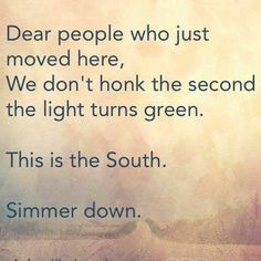 Hahahahahaha being from Chicago it's go go go. Everything moves slower down south. You learn to appreciate those people. Southern Girls, Southern Pride, Southern Comfort, Simply Southern, Southern Charm, Southern Belle, Southern Living, Southern Accents, Texas Pride