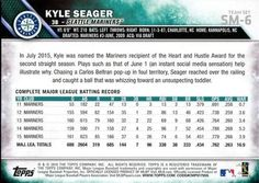 2016 Topps Seattle Mariners #SM-6 Kyle Seager Back