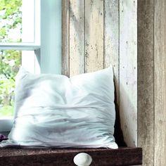 Papier peint vinyle sur intissé Planche bois, marron, larg. 0.53 m