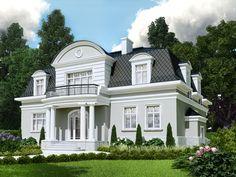 Elegancka i komfortowa willa miejska zaprojektowana z ogromną dbałością zarówno o funkcję użytkową jak i proporcje oraz detal architektoniczny.