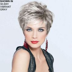 Grey Granny Hair Wigs Layered Boycuts To - Hair Beauty Grey Hair Gel, Short Grey Hair, Short Hair With Layers, Short Hair Cuts For Women, Layered Hair, Short Hairstyles For Women, Wig Hairstyles, Edgy Short Haircuts, Pixie Haircuts