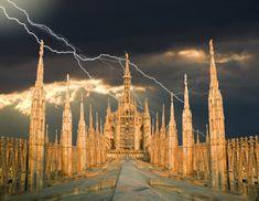 Lightning Photography: Cathedral Storm © Richard Desmarais | #Photography #Lightning |