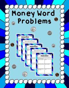 Money Word Problems - 2.MD.8