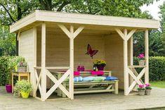 Gartenpavillon AUTUMN mit Flachdach