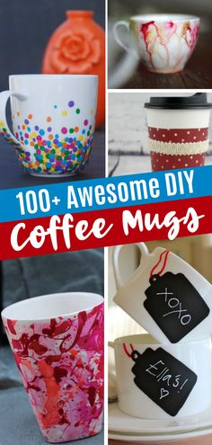 Awesome DIY Coffee Mug Art Creations perfect as easy DIY gifts for friends and family! Learn how to make personalized mugs at home with these mug painting ideas and decorations. Save this creative homemade gift idea for later! Diy Crafts For Home Decor, Diy Projects For Kids, Crafts For Kids To Make, Diy Arts And Crafts, Diy Crafts To Sell, Sharpie Coffee Mugs, Coffee Mug Crafts, Creative Homemade Gifts, Easy Diy Gifts