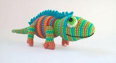 Crocheted Chameleon