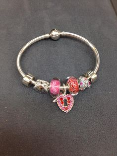 Perfect for #ValentinesDay! This #Chamilia #bracelet is featuring our NEW Limited Edition Love Lock bead! #DonJenkinsJeweler #LimaOhio