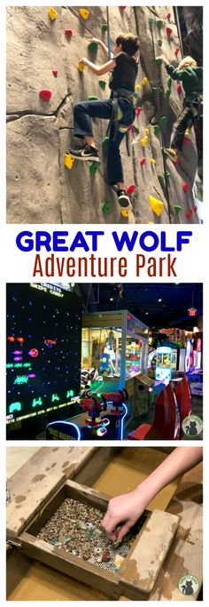 Great Wolf Adventure Park provides lots of dry fun outside the water park at Great Wolf Lodge! Try the climbing wall, ropes course, bowling, MagiQuest and more!  via @ThriftyJinxy