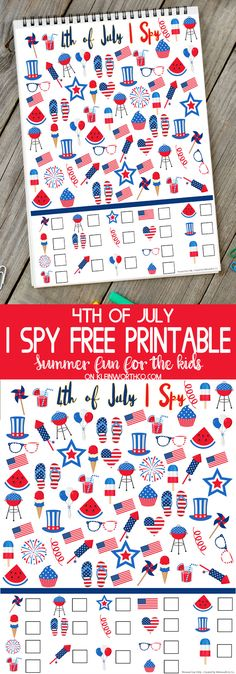 of July I Spy Printable - FREE printable to keep the kids busy while they wa. of July I Spy Printable - FREE printable to keep the kids busy while they wait for the fireworks this Independence Day. via Kleinworth & Co. Fourth Of July Crafts For Kids, Holiday Activities For Kids, 4th Of July Games, Fourth Of July Food, 4th Of July Celebration, 4th Of July Party, July 4th, Independence Day Activities, Kid Activities