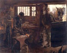 The Athenaeum - The Little Smithy (Stanhope Alexander Forbes - )