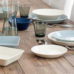 Teema tableware and Kartio glasses Hygge, Kitchenware, Tableware, Table Settings, Setting Table, Color Mixing, Dinnerware, Scandinavian, Wedding Gifts