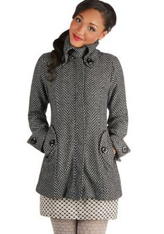 Missing Crayons Coat in Monochrome, #ModCloth