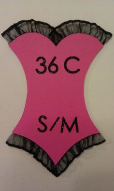 Bachelorette Party/Lingerie Shower Invitation Inserts--know the bride's size!---. $3.50, via Etsy.