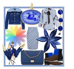 """I'm blue da ba dee, da ba die"" by rita257 ❤ liked on Polyvore featuring Chanel, Dsquared2, Diane Griswold Johnston, Fletcher & Fox, ANNA BAIGUERA, Marc Jacobs, Jonathan Saunders and Pamela Love"