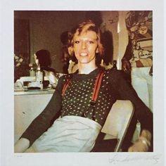 Polaroid of David Bowie by Linda McCartney 1974