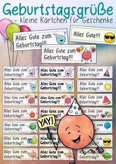 Grußkarten / Geburtstagswünsche Vorschau - Arbeitsblätter - Geburtstag - wachsendes Materialpaket - Seite 1