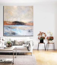 Navy Blue Painting Gray Painting Ocean Painting Sunset Painting Art Abstract Painting Canvas Art Abstract Acrylic On Canvas Living Room Art Abstract Canvas, Painting Abstract, Blue Canvas, Large Canvas, Canvas Art, The Artist, Contemporary Abstract Art, Hanging Art, Acrylic Art