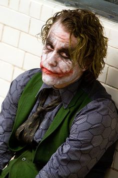 Heath Ledger as the Joker - The Dark Knight