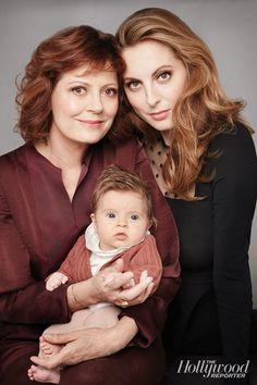 Susan Sarandon with her daughter Eva Amurri Martino and granddaughter Marlowe 2014.: