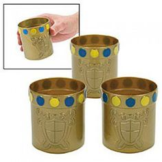 Knight Party Supplies, Knight Party Mugs, Medieval Cups