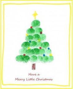 arbre de Noël d'empreinte numérique 5890 comment dessiner