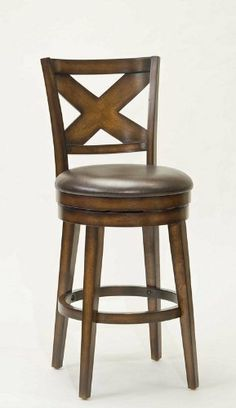 Hillsdale Furniture Sunhill Swivel Bar Stool by Hillsdale Furniture. $199.00. Assembled Dimensions 45.25 in. H x 19.5 in. W x 23 in. D. Other Dimensions 30.5 in. Seat Height. Rustic Oak. Style Traditional. Hillsdale Furniture is taking traditional wood stools to the next level. The Sunhill swivel stool starts with sturdy, tapered legs. A durable brown vinyl seat is added next, followed by a unique rustic oak finish with burnished edges. Finally the back displays a substant...