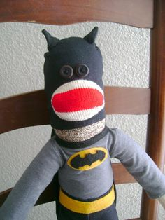 Batman Sock Monkey by DeedleDeeCreations on Etsy