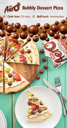 Need a good excuse to eat pizza? Celebrate any event with a bubbly dessert pizza party. TIP: Try replacing the suggested fruits with the same amount of chopped fresh pineapple, kiwi or blueberries. Click to discover the full recipe.